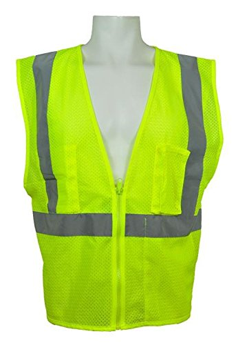ML Kishigo - Ultra-Cool Economy Mesh Vest with Pockets, Class 2, color: Lime, size: Large ()