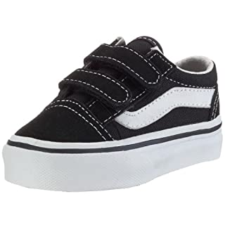 68985b6a69769 Vans Kids' Old Skool V-K, Black, 4.5 M US Toddler (B002HWRTMQ ...
