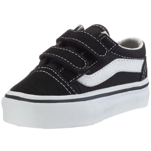 (Vans Boys' Old Skool V-K, Black, 10 M)