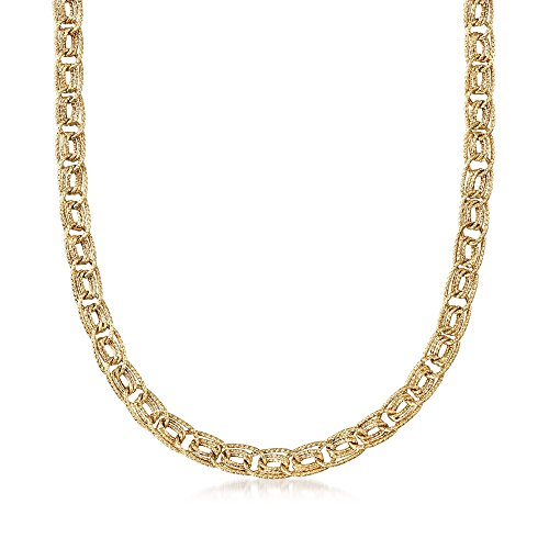 14kt Gold Curb Link Necklace - Ross-Simons 14kt Yellow Gold Triple Curb-Link Necklace