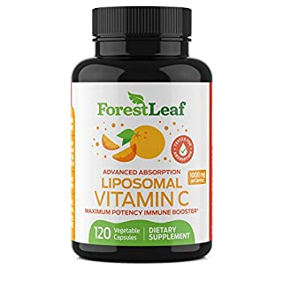 Natural Liposomal Vitamin C Immune System Booster 1000mg - with MCT Oil and Sunflower Lecithin - Maximum Potency - Dry Liposomal Support for Superior Absorption - 120 Capsules - ForestLeaf