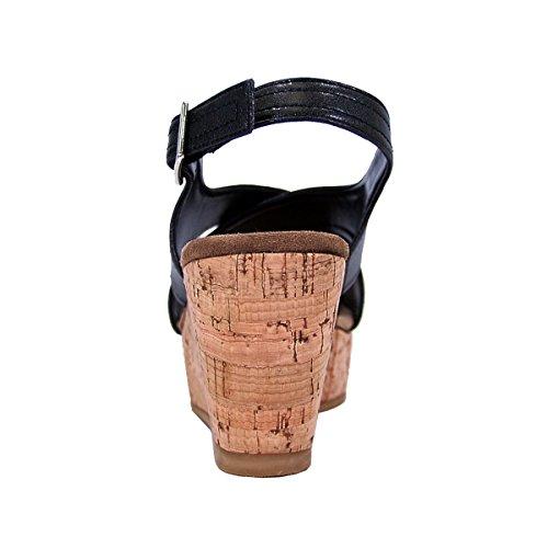 Sandals Platform amp; Women Size Black Anya Charts Slingback Width Wide FUZZY Available Wedge Measurements 5z10RIqgw