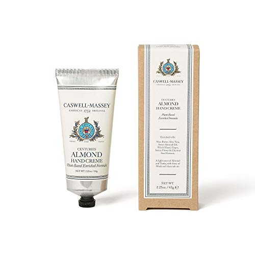 Caswell-Massey Centuries Almond Hand Creme - Shea Butter Hand Moisturizer With A Natural Almond Scent, 2.25 oz