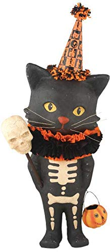 Bethany Lowe Designs Sour Puss Halloween Black Cat