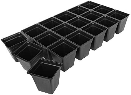 Handy Pantry Black Plastic Garden Tray Inserts – 50 Sheets of 18 Planting Pot Cells Each – 3×6 Configuration – Perforated – Nursery, Greenhouse, Gardening