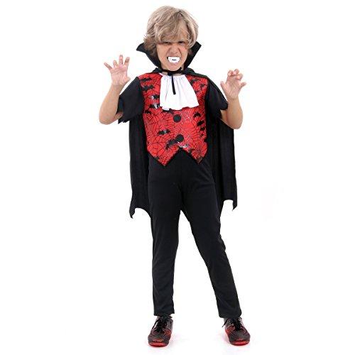 Fantasia Vampiro Stefan Infantil 23435-G Sulamericana Fantasias G 10/12 Anos