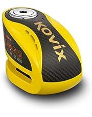KOVIX (KNX10) Disc Lock with Alarm (Yellow)