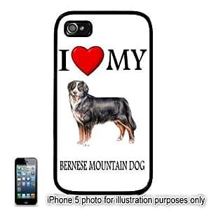 Bernese Mountain Dog I Love My Dog Apple iPhone 5 Hard Back Case Cover Skin Black