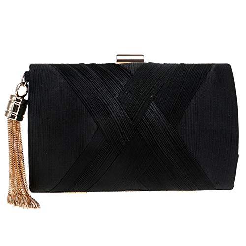 mode 1 femmes Zanpa embrayages Handbag noir Uw54Rg