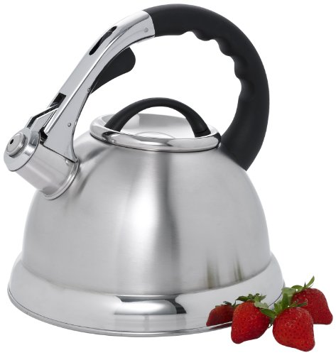 Creative Home 72223 Camille Stainless Steel Whistling Tea Kettle, 3-Quart (Stainless Tea Steel Aluminum Kettle)