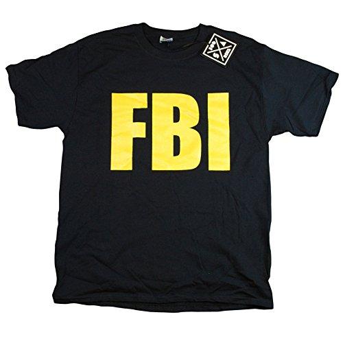 Agent Yellow T-shirt (FBI Federal Agent Bureau of Investigation Mens Front & Back T-Shirt Medium)
