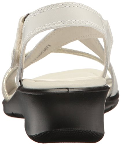 White ECCO Heel Sandals Felicia Women's Wedge Gravel xq4vSX