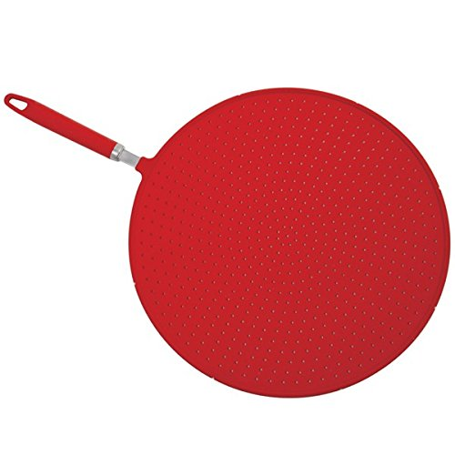 Norpro Grip-EZ Red Silicone Splatter Screen Strainer