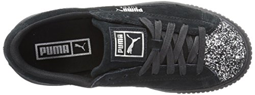 PUMA Suede Silver Puma Leather Women's Sneaker Puma Black Aged Gem Platform Crushed Fashion UUwOFr5qn
