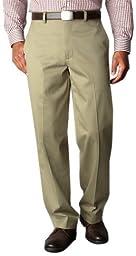 Dockers Men\'s Relaxed Fit Signature Khaki Pant - Flat Front D4, Dark Beige, 36x34