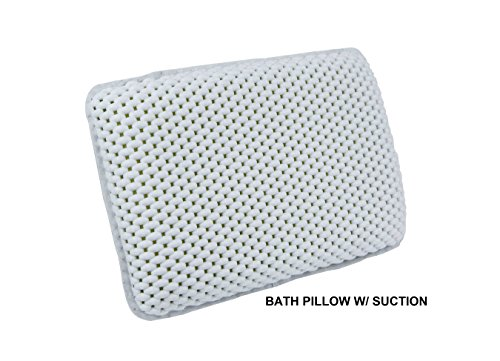Deluxe Thick Luxury Spa Bath Pillow, Super Grip Suction Cups, (Super Soft Spa Pillow)