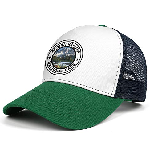 Mount Rainier National Park Baseball Hat Retro Cotton Adjustable Mesh Captain Caps Unisex