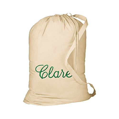 Key Your Spirit KYS Personalized Cotton Laundry Bag w/Shoulder Strap