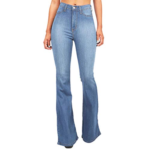 Women's Wide Leg Jeans,Sunsee Women Shorts Sets Outfits High Waist Pocket Flared Skinny Button Trousers