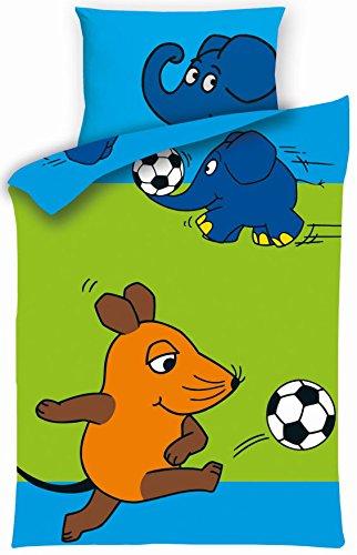 Aminata Kids Kinder Bettwäsche Sendung Mit Der Maus Elefant Fussball