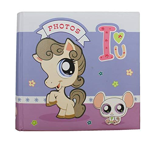 [해외]AITIME Cartoon Design Cover Baby Photo Album with Memo Family Photo Album has 200 Pockets Hold 4x6 inch PhotosMemory Book Album for Kids (Horse) / AITIME Cartoon Design Cover Baby Photo Album with Memo, Family Photo Album has 200 P...