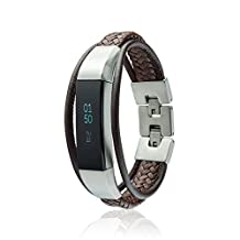 Fitbit Alta Bands - Aurel - fitjewels Leather Replacement band, Available in Black, Brown, Gold, Silver and Grey