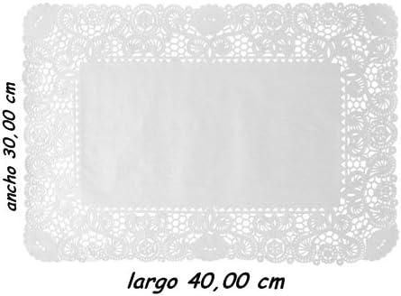 Sumicel Blonda Rectangular para decoración 30 x 40 cm, Caja de 2000 Unidades: Amazon.es: Hogar