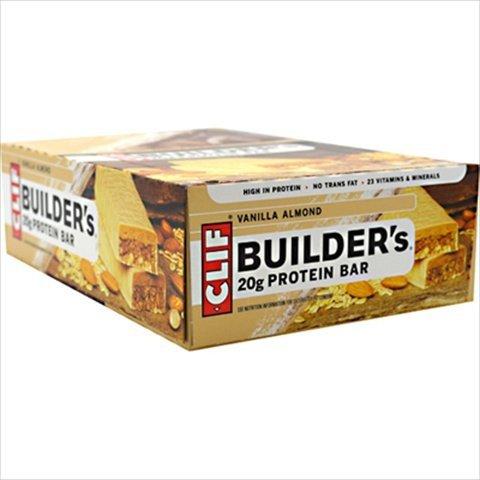 Clif Bar Builder Bar - Vanilla Almond - 2.4 Oz (Pack of 12)