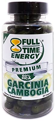 Full-Time Energy 60% HCA Garcinia Cambogia Weight Loss Supplement, 60 Capsules