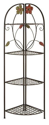 Deco 79 63066 Metal Corner Rack, 22 by 64-Inch (Furniture Brightly Painted Outdoor)