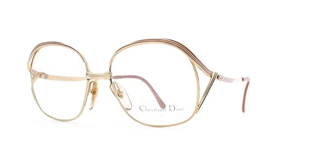 59c03eab1863 Image Unavailable. Image not available for. Color  Christian Dior 2474 41 P  Gold and Pink Authentic Women Vintage Eyeglasses Frame