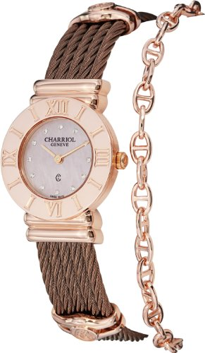 charriol-womens-st-tropez-pink-diamond-dial-bronze-steel-watch-028rp543462