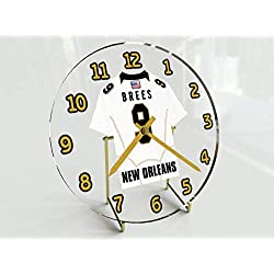 Football Team Desktop/Shelf Clocks - All N F L Colors Available - Size 7 X 7 X 2 Any Name Any Number Any Team !! (N O Edition)