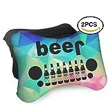 HASKDWHHK Beer Jeep Car Neck Pillow (Soft Version)- Neck Pillow, Car Pillow, Memory Foam Neck Pillow, Neck Rest Pillow