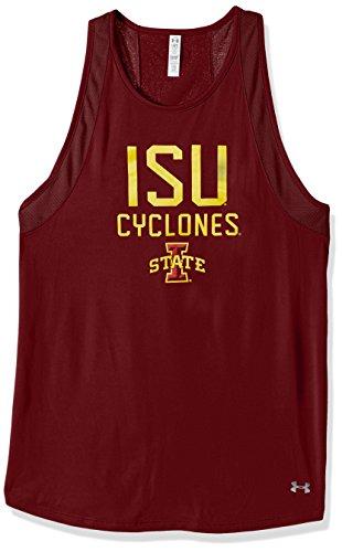 (NCAA Iowa State Cyclones Women's Mesh Tech Tank, Large, Cardinal)