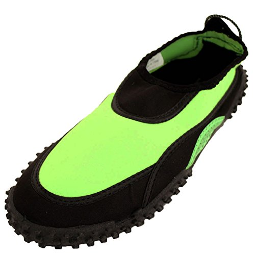 Wave Mujeres Slip On Thick Tread Calcetines Aqua Zapatos De Agua Verde Lima