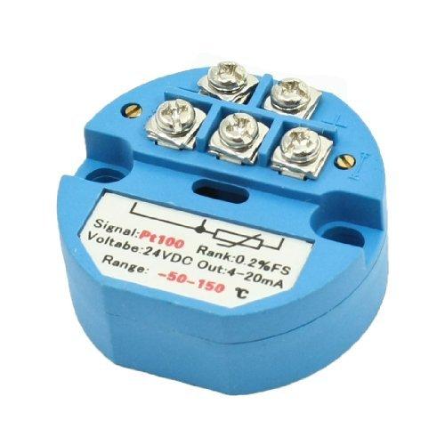 50C a 150C del transmisor del Sensor de temperatura PT100 eDealMax 24V DC de 4-20 mA