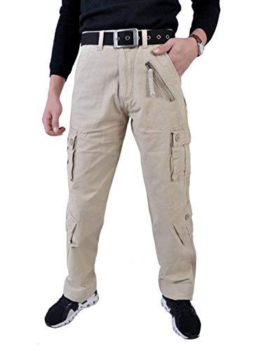Color Otoño Libre Trabajo Cómodo Hombres Khaki Aire Pierna Algodón Sólido De Primavera Relajados La Los Pantalones Battercake Al wq1SPP