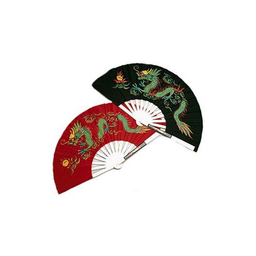 AWMA Metal Dragon Chinese Fighting Fan Black