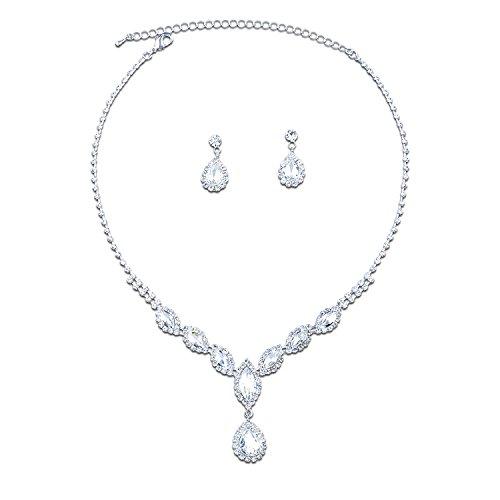 Topwholesalejewel Jewelry Teardrop Necklace Earrings
