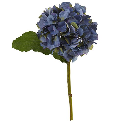 "Nearly Natural 2189-S12-BL 12"" Hydrangea Artificial Flower (Set of 12), Blue"