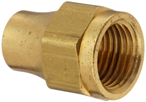 (Eaton Weatherhead 1110X5 Brass CA360 SAE 45 Degree Flare, Nut, 5/16