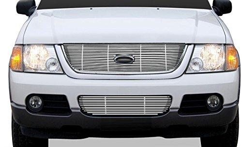 02-05 Ford Explorer SES Chrome Billet Grille (2pc. top & bottom)