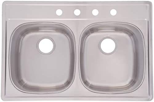 Franke DSK854-18BX Double Bowl Stainless Steel 33x22in. Topmount Sink
