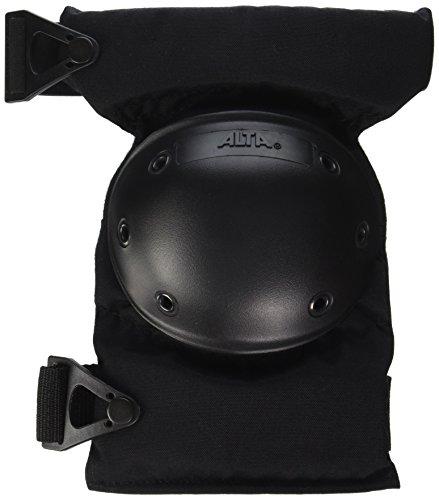 ALTA 52913.00 AltaCONTOUR Knee Protector Pad, Black Cordura Nylon Fabric, AltaLOK Fastening, Flexible Cap, Round, Black