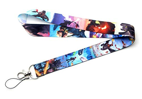 Party Hive How To Train Dragon Toothless Lanyard ID Badge Key Chain Holder Keychain Clip