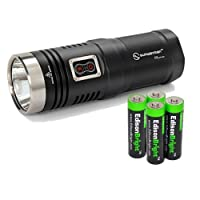 Sunwayman D40A Cree XM-L2 980 Lumens LED compact AA Flashlight/searchlight with 4 X EdisonBright AA Alkaline batteries