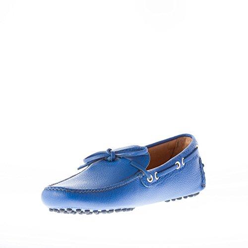 Car Shoe Uomo Mocassino Driving in Pelle Martellata Blu Cobalto con Laccetto Blu Salida Footlocker Fotos Profesional De Salida 88r7pRT