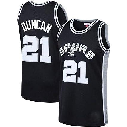 Swingman Ricamata canottejerseyNBA Tim Duncan San Antonio Spurs #21 Retro Vintage Abbigliamento Sportivo Basket Jersey Maglia Canotta