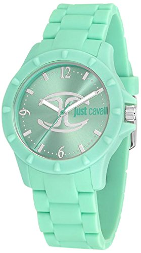 Just Cavalli R7253599506 - Reloj con Correa de Goma, para Mujer, Color Verde